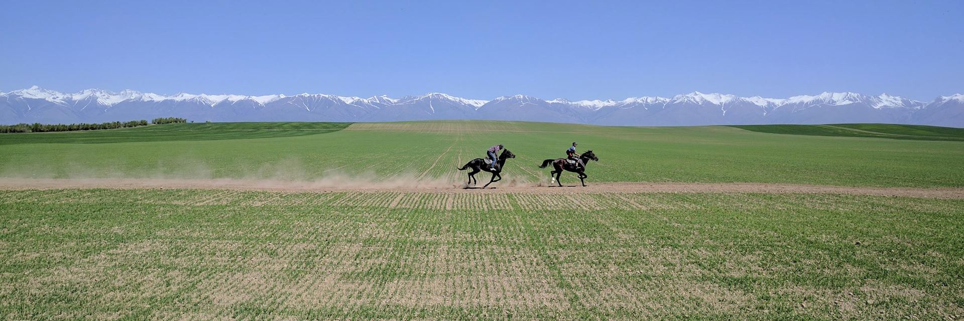 Horse riding in Issyk Kul