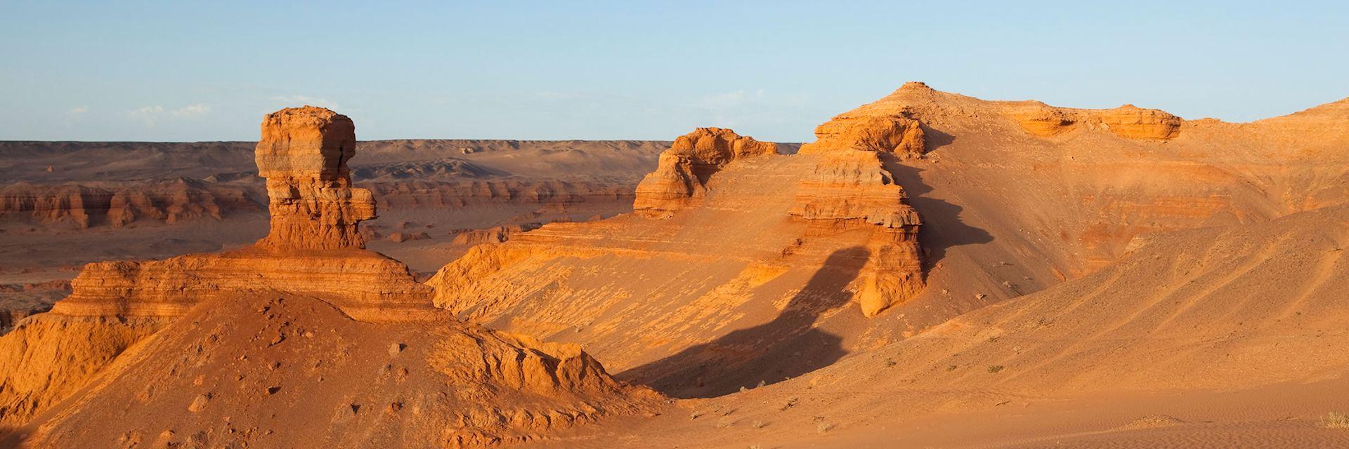 Evening light in the Gobi Desert