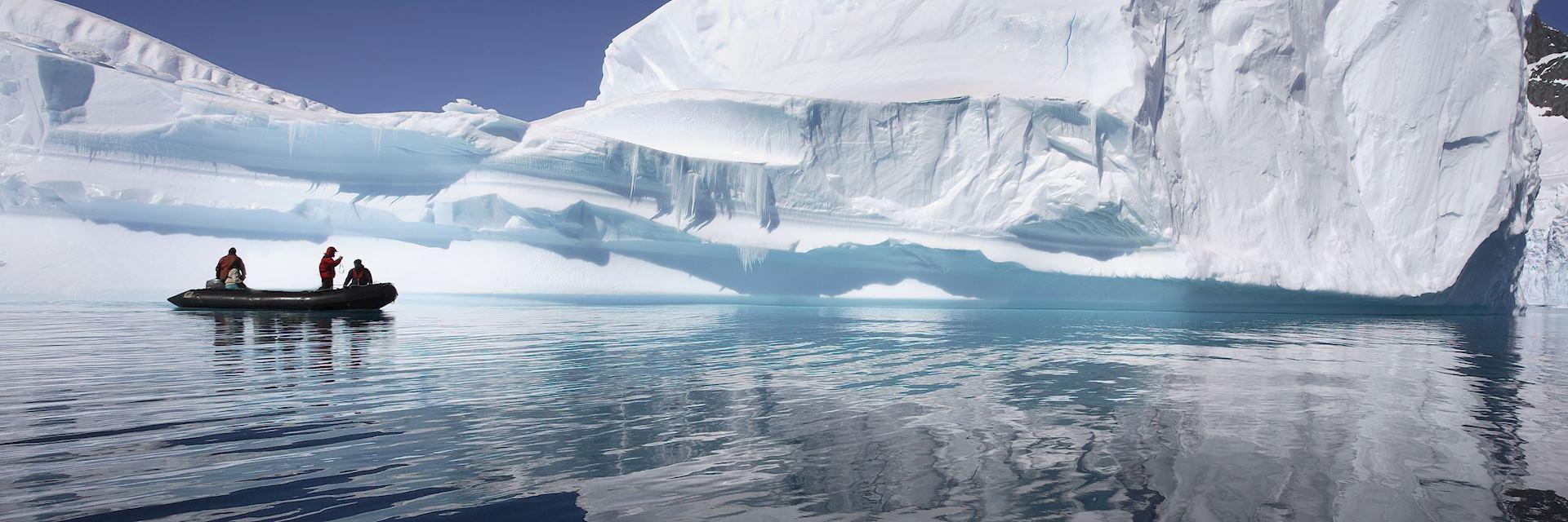 A zodiac excursion in Antarctica