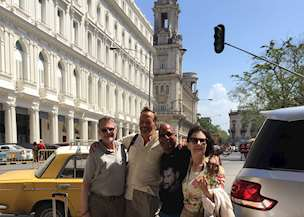 Clients with their guide in Cuba