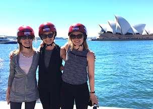 Jeanne's clients on bike tour