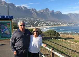 Rebecca and Michael in South Africa