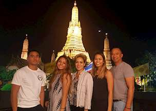 Eunice Perez and family in Thailand