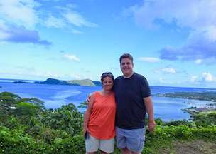 Bill and Carrie in French Polynesia