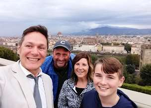 David, Wendy, and Jack in Italy
