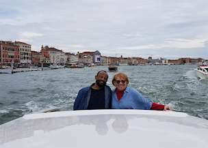 Emerson and Johnnie Brown in Italy