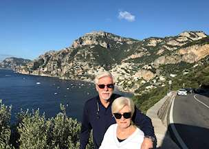 Diane and John Peavy in Italy