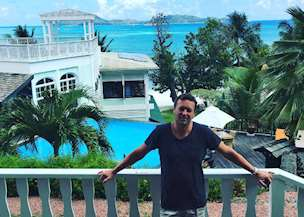 Gary Weller in the Seychelles on honeymoon