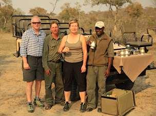 Sonia and John Wickham in Chitwa Chitwa, South Africa
