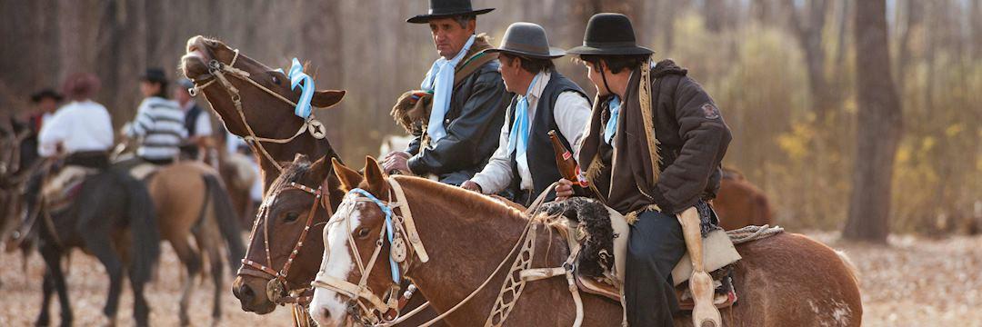 Gauchos, or horsemen, in Argentina