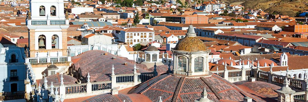 View over the UNESCO World Heritage Site of Sucre