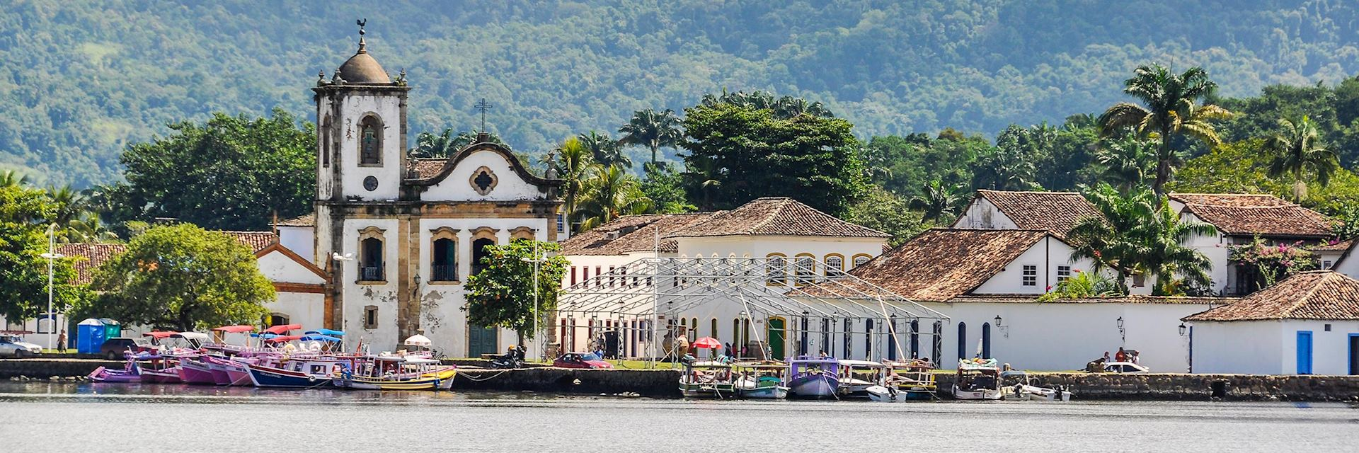 The town of Paraty along the Green Coast