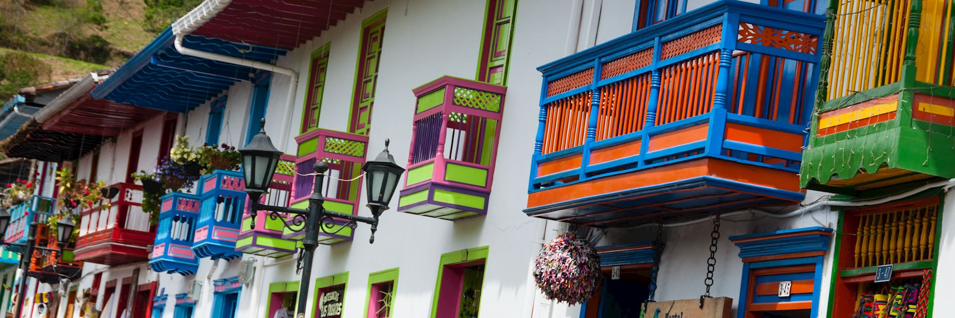 Colourful houses in Salento, near Bogota