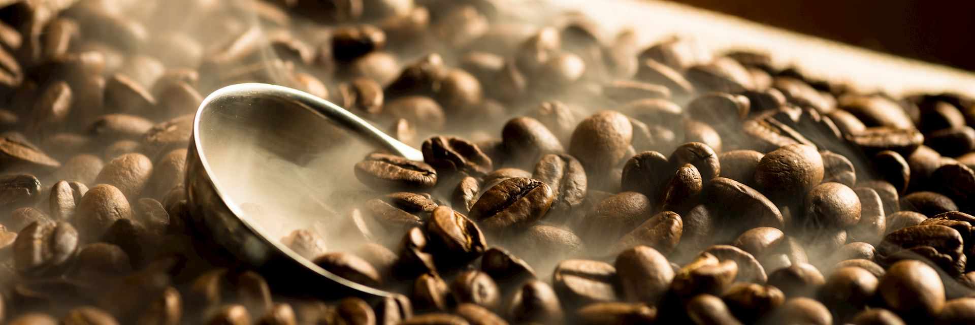 Roasting Colombian coffee beans