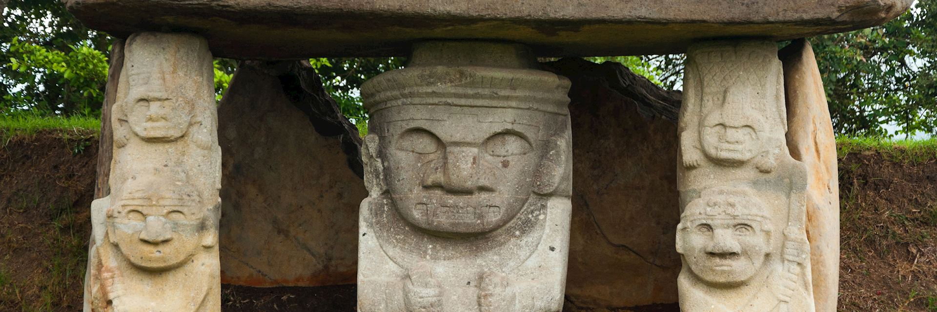 Stone statues at San Agustin