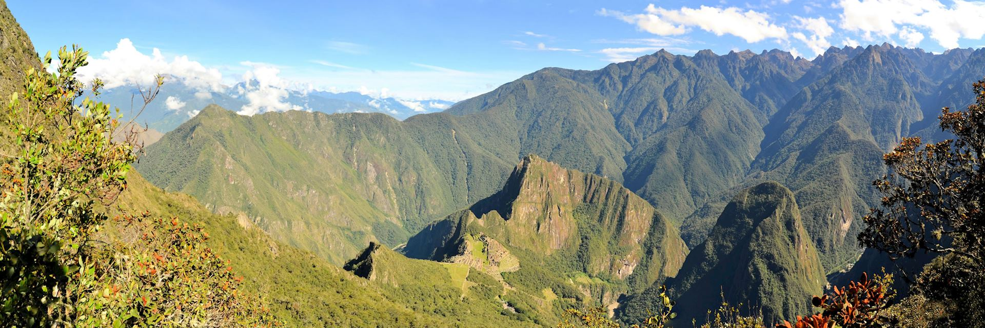 Aerial view of Machu Picchu