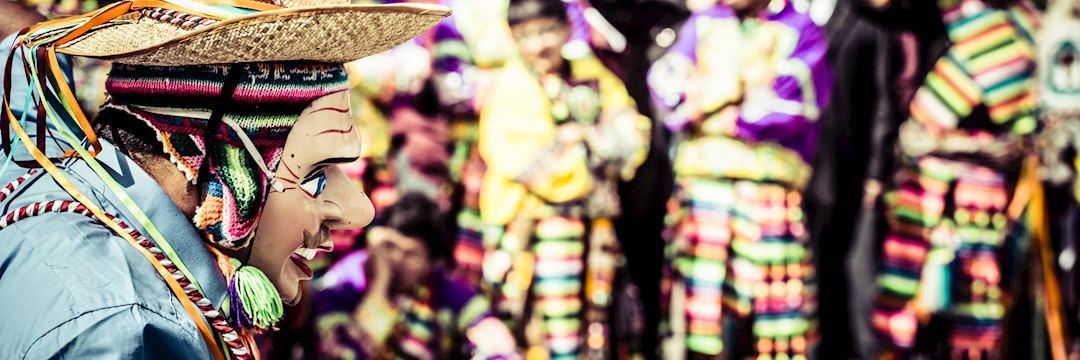 Festival dancers in Cuzco, Peru