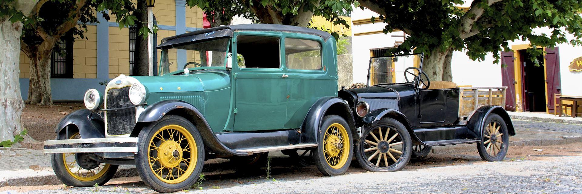 Vintage car in Montevideo
