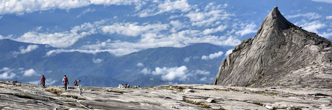 Mount Kinabalu can be climbed with the aid of an experienced guide
