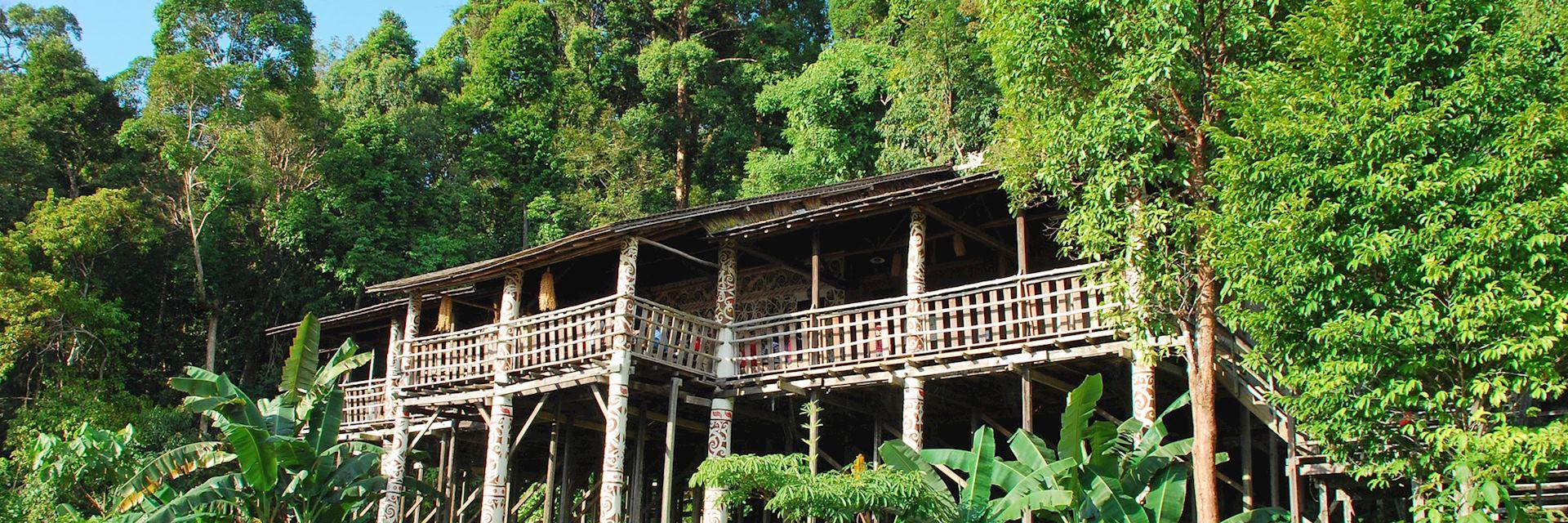 Iban longhouse, Sarawak