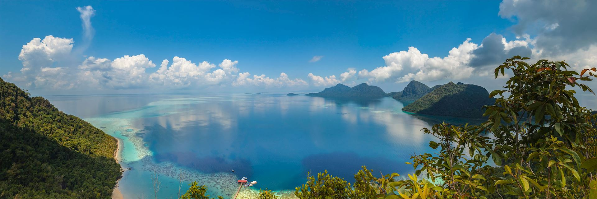 Coral reef and islands, Borneo