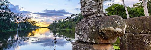 Bridge at the entrance of Angkor Thom