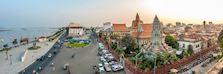 Riverfront at sunset, Phnom Penh