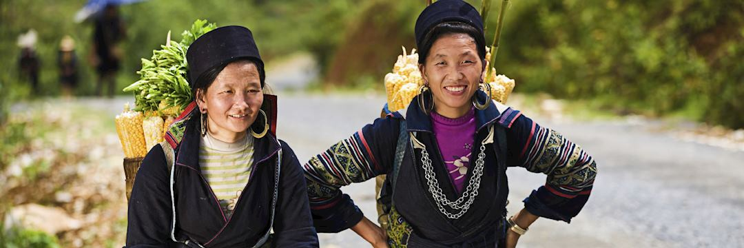 H'mong women from the mountainous Luang Nam Tha region