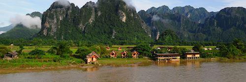 The sleepy riverside town of Vang Vieng