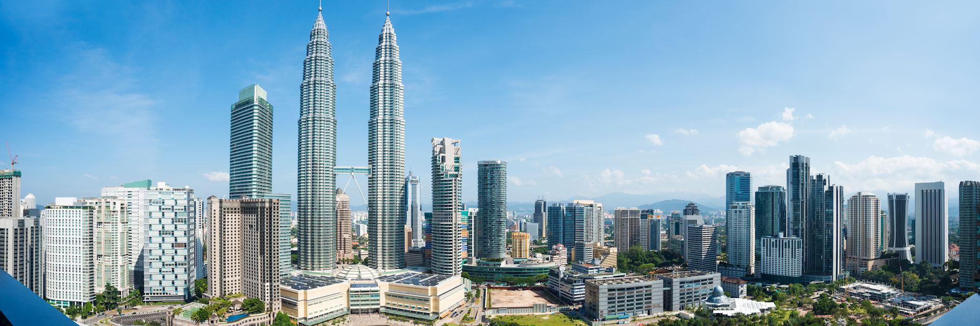 Skyline of Kuala Lumpur with the Petronas Towers