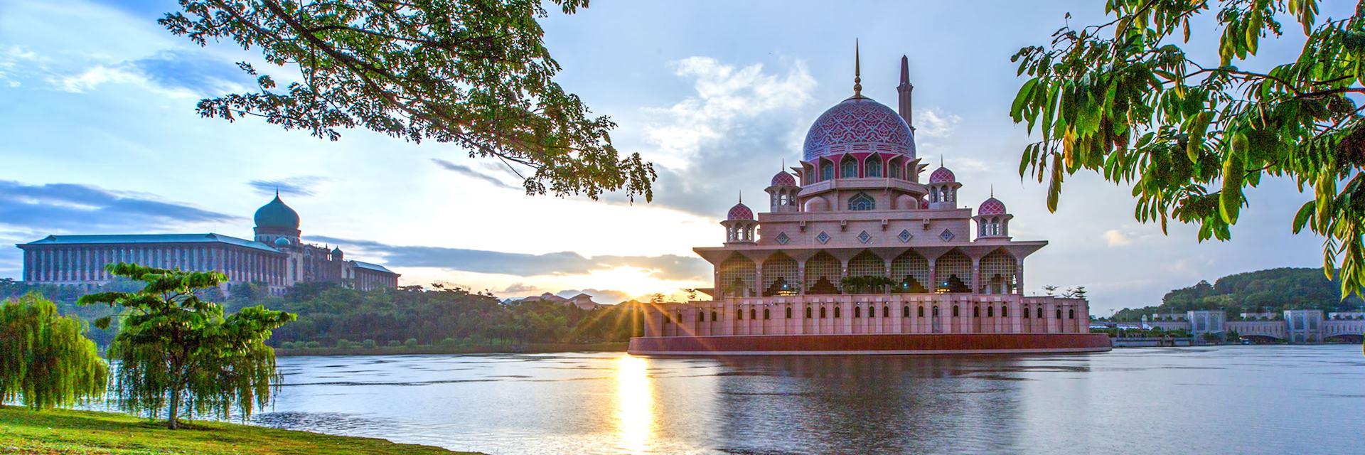 Putra Mosque, in Putrajaya, Malaysia