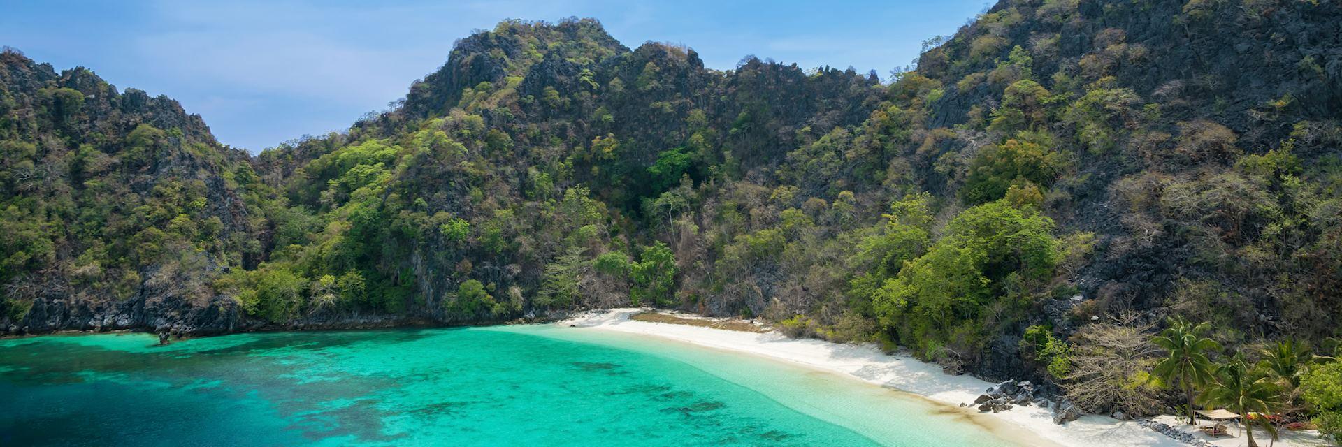 Beach on Horseshoe Island, Myanmar