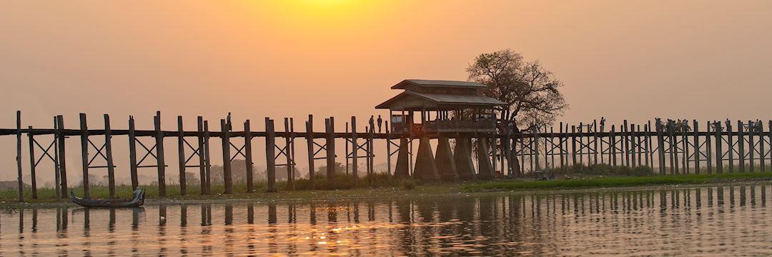U-Bein-Bridge, Mandalay, Myanmar (Burma)