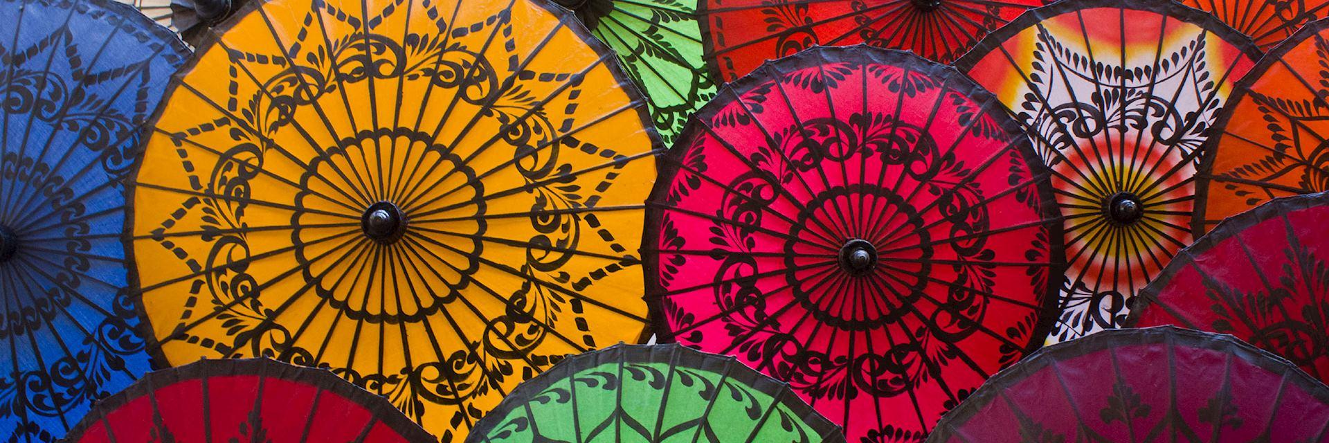 Colourful umbrellas, Burma (Myanmar)