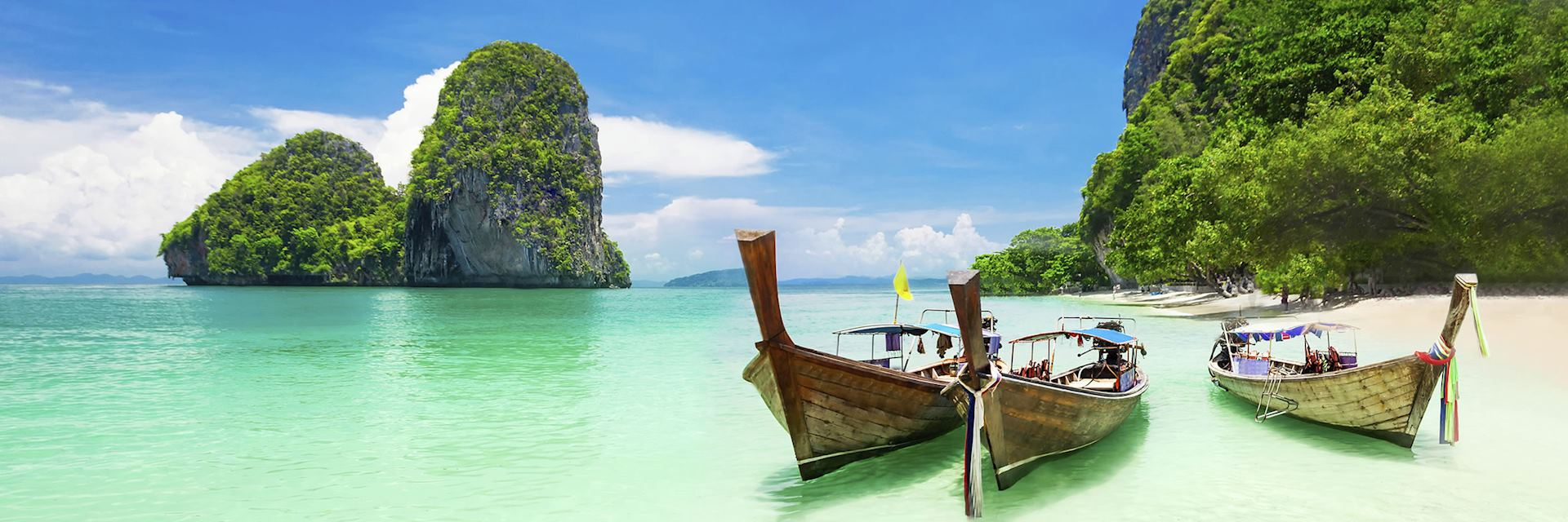 The white sand beaches of Krabi