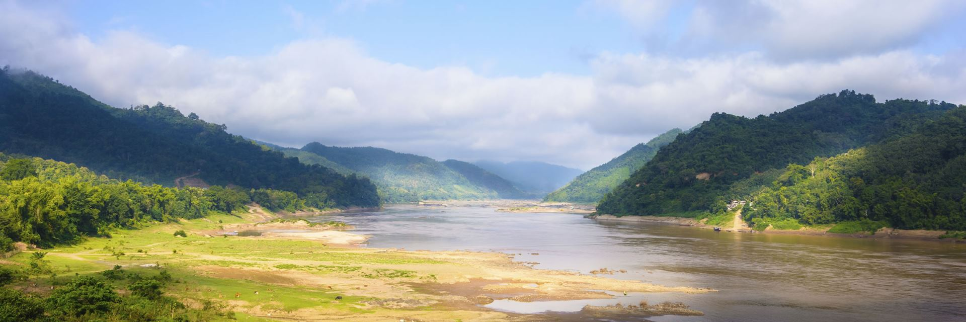 The Mekong River, in the Golden Triangle