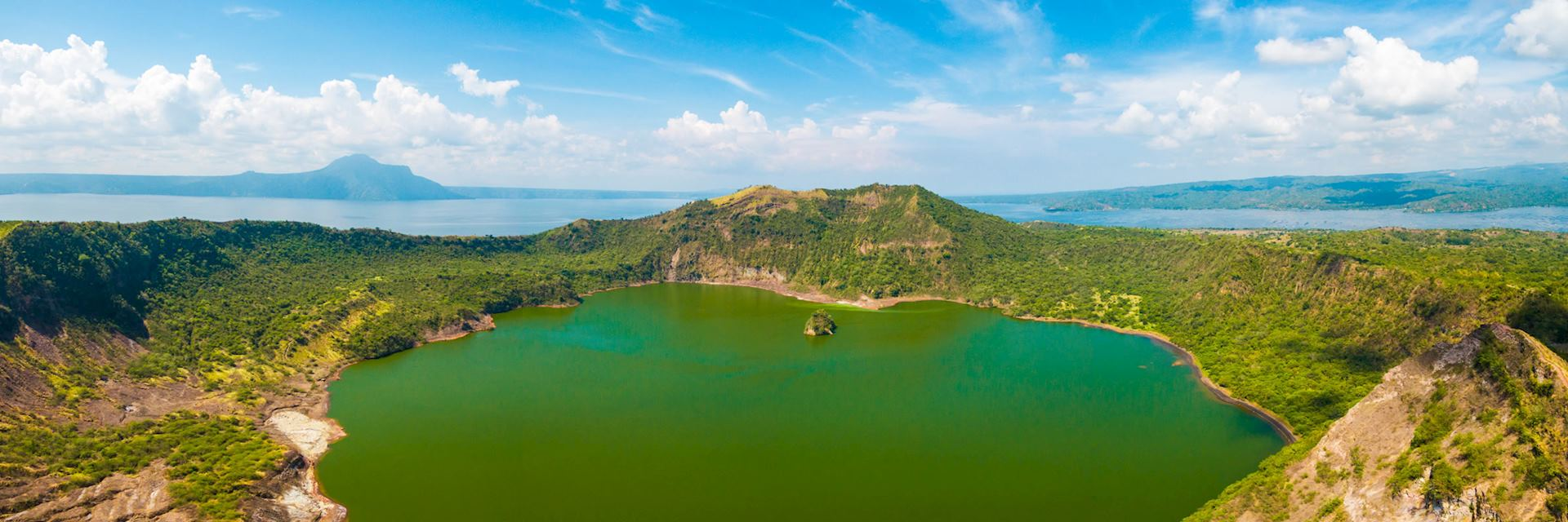 Vulcan Point Island and Crater Lake in Batangas, Southern Luzon