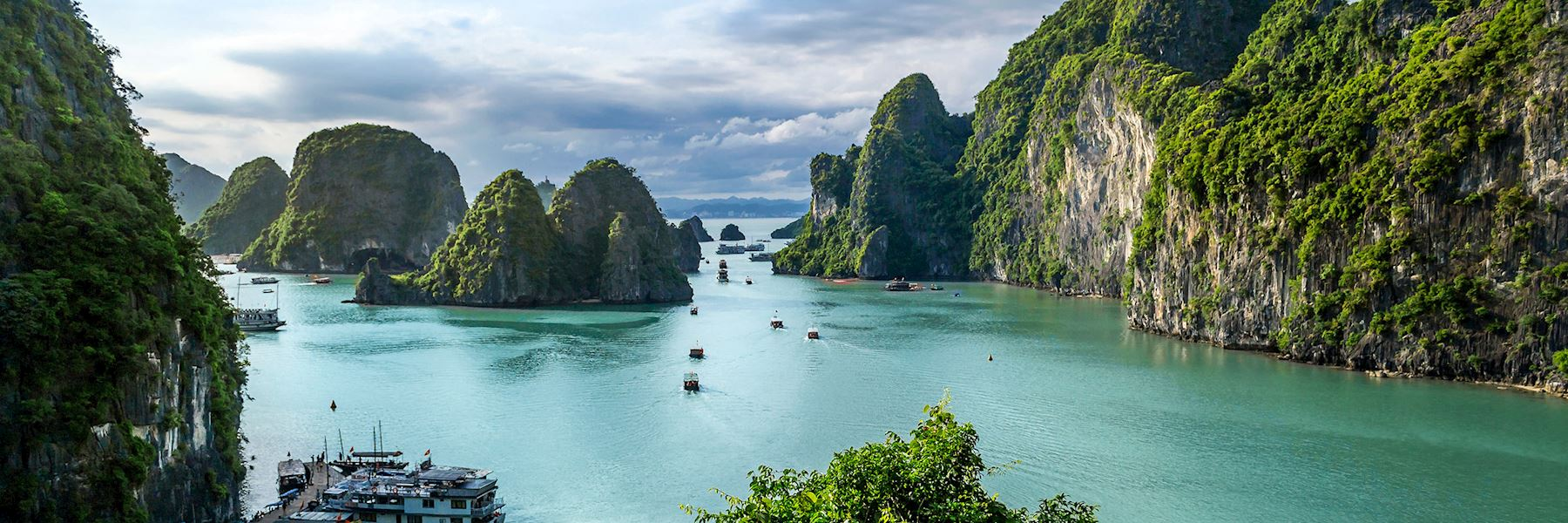 Visit Halong Bay on a trip to Vietnam
