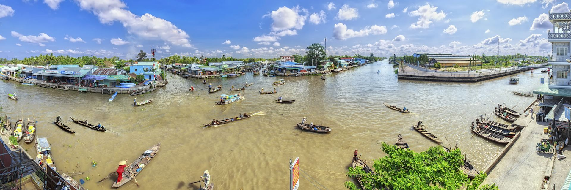 Floating market on the Mekong Delta, Vietnam