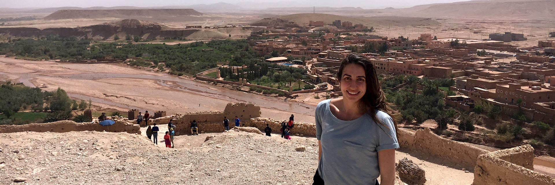Amira at Ait Ben Haddou, Morocco