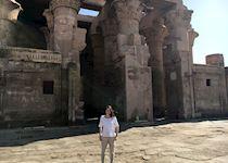 Amira at Kom Ombo, Egypt
