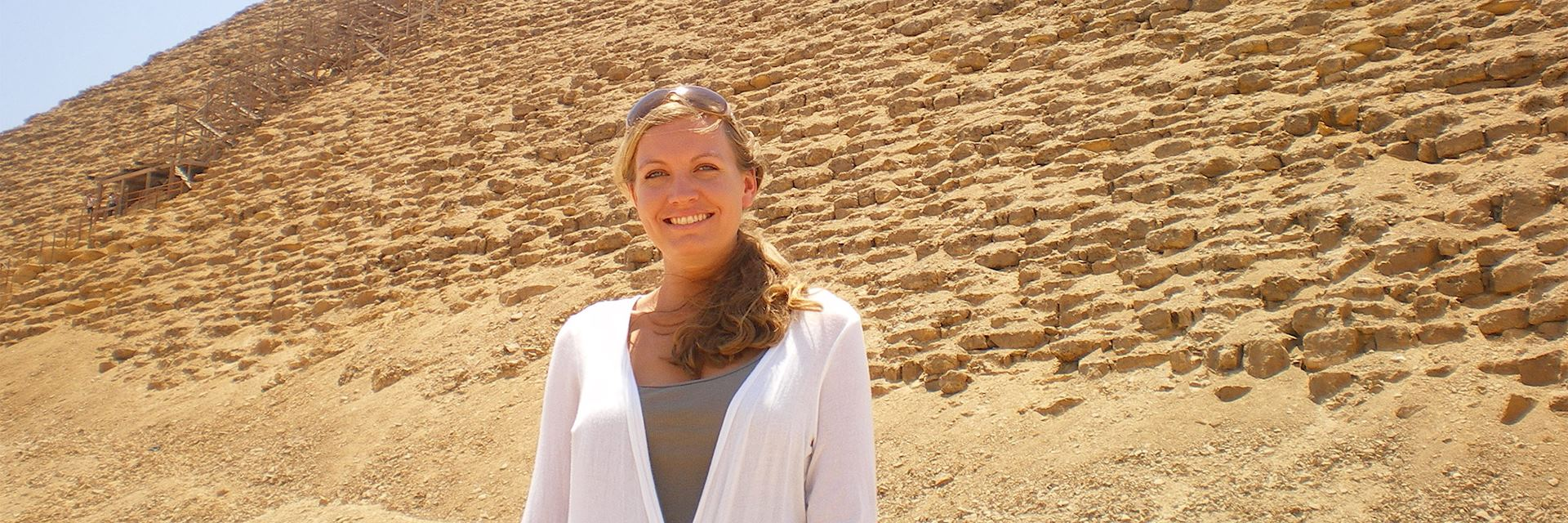 Emma in Dashur, Egypt