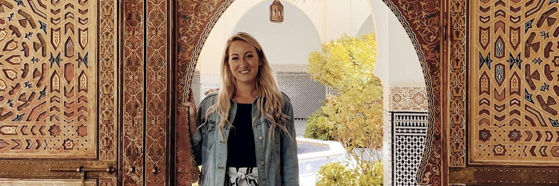 Jenn in Rissani, Morocco