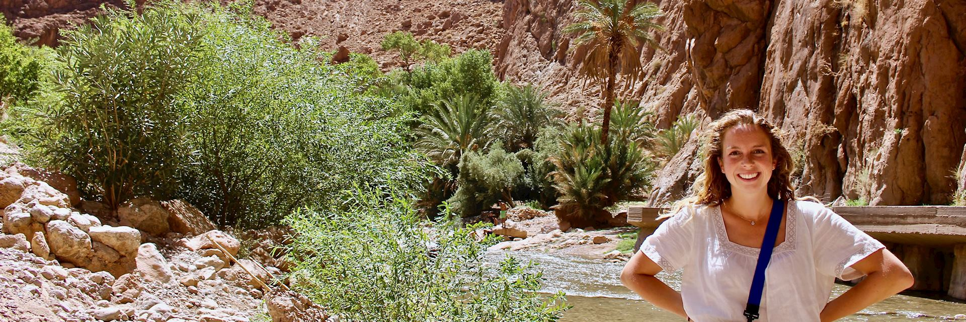 Olivia at Todra Gorge, Morocco