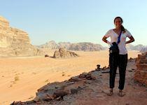 Olivia in Wadi Rum, Jordan