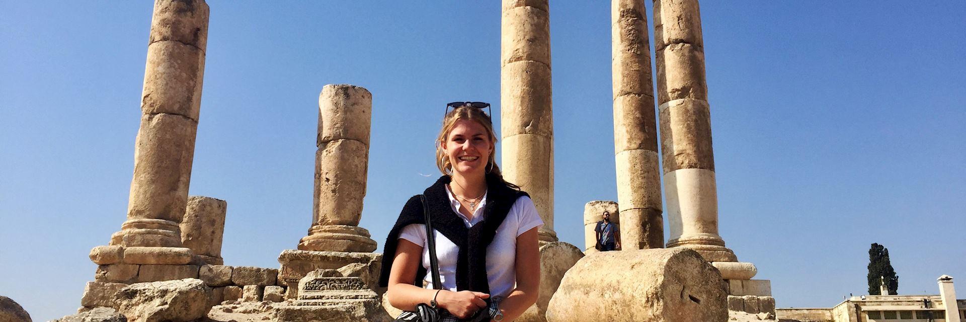 Olivia at Amman Citadel, Jordan
