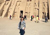 Paula at Abu Simbel, Egypt