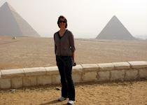 Sarah at Giza in Egypt