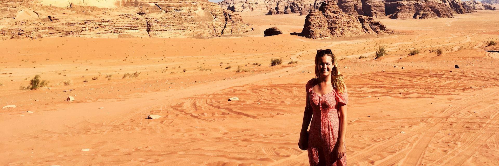 Sophie in Wadi Rum, Jordan