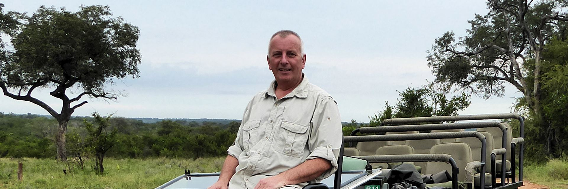 Alan at Sabi Sands, South Africa
